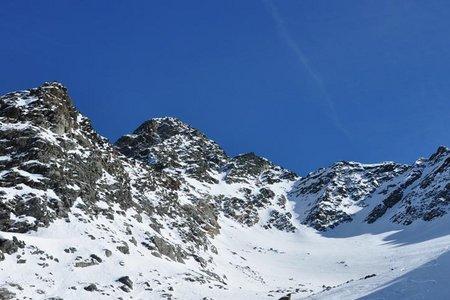 Knotenspitze (3082 m) von der Franz Senn Hütte