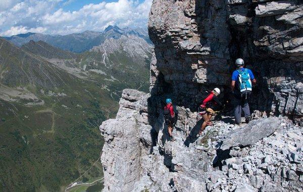Unterwegs am Klettersteig