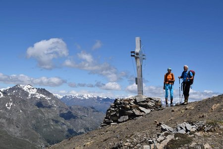 Vorderer Rotspitz (3033 m) von der Marteller Hütte