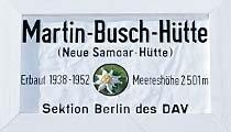 Logo Martin Busch Hütte (Samoar Hütte), 2501 m - Vent