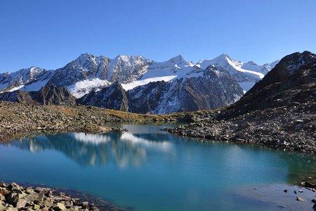 Rinnensee (2646 m) von der Oberiss Hütte