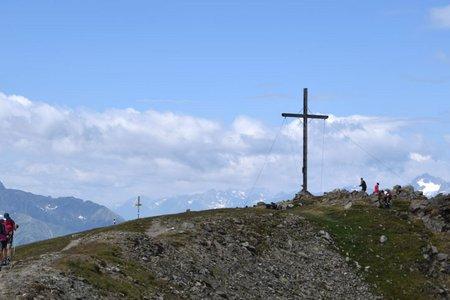 Glanderspitze (2512 m) vom Parkplatz Piller Moor