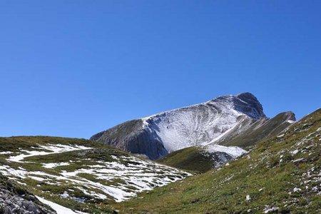 Monte Sella de Sennes (2787 m) vom Pragser Wildsee