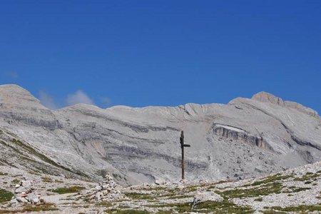 Heiligkreuzkofel-Zehnerspitze (2907/3.026 m) von der Faneshütte
