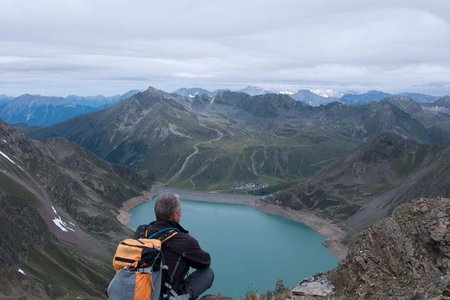 Schartenkogel (2855 m) von der Schweinfurter Hütte