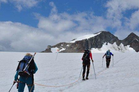 Dahmannspitze (3397 m) vom Hochjoch Hospiz