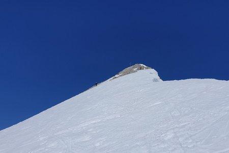 Pleisenspitze (2569m) von der Isar Lodge Wiesenhof