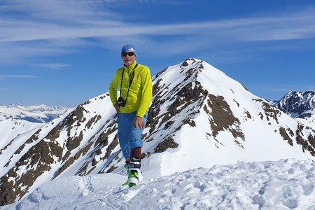 Wölfeleskopf (2893m) vom Gasthof Alpenfriede