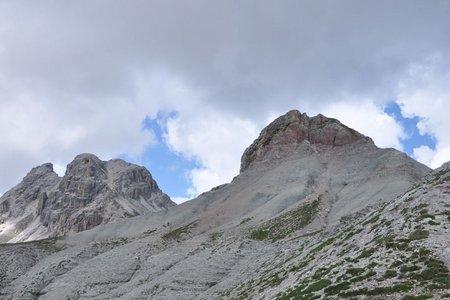 Östliche Puezspitze (2913 m) von der Gardenacia Hütte