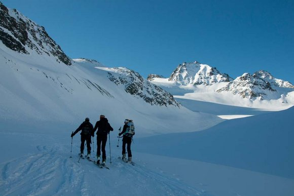 Blaue Silvretta - Skitourenregion der Superlative