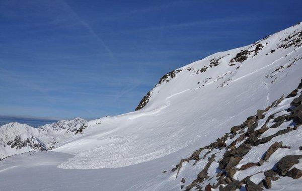 Lawine am Hinteren Daunkopf - Jänner 2011