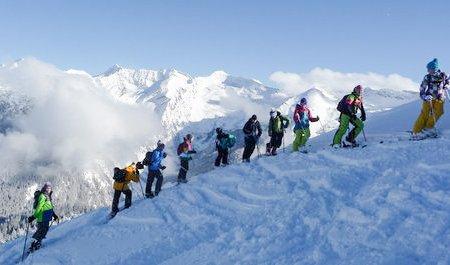 Skitouren gehen von klein auf