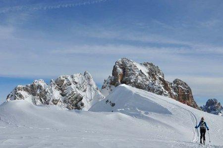 Kleine Gaisl-Croda Rossa Pizora (2859 m) von der Senneshütte