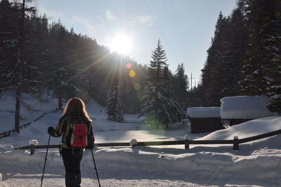Besondere Schneeschuh - Wanderregionen in den Alpen