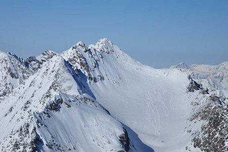 Skitour Hoher Seeblaskogel (3235 m) von Lüsens
