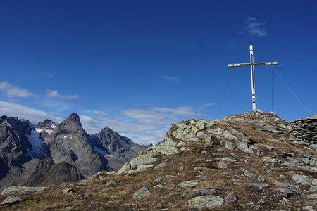 Grabkogel (2651m) vom Parkplatz Piösmes