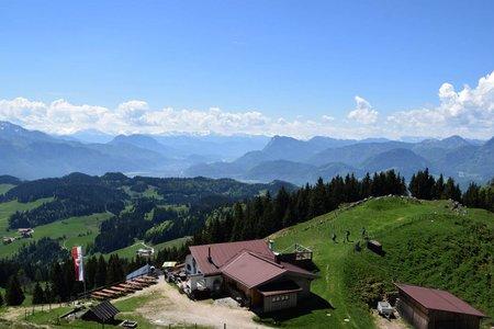 Altkaser Alm (1252 m) von Sachrang über Mitterleiten