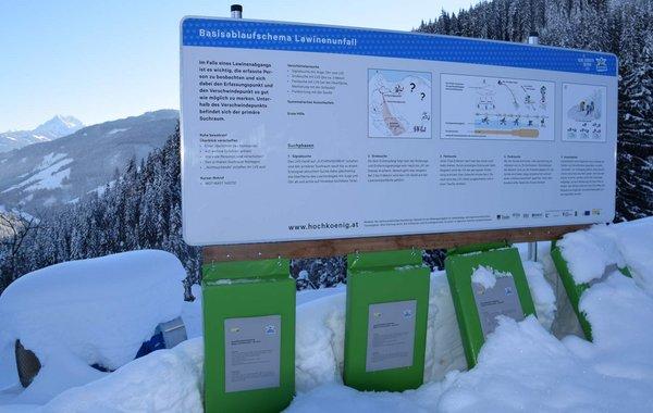 Skitourenlehrpfad in Dienten