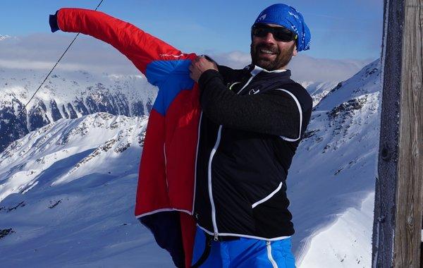Andreas vom Almenrausch-Team mit Hyphensports bei Skitouren
