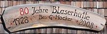 Logo Blaserhütte, 2176 m - Trins