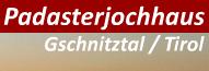 Logo Padasterjochhaus, 2232 m - Gschnitztal