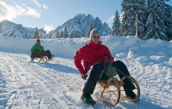 Rodeln in den Lienzer Dolomiten