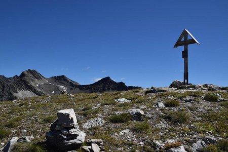 Bachlenkenkopf (2759m) vom Parkplatz Trojer Alm