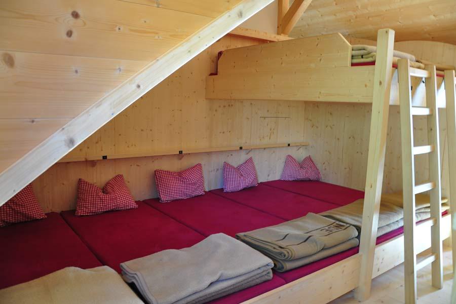 Matratzenlager hütte  Erfurter Hütte - Hütttenstützpunkt im Rofan am Achensee