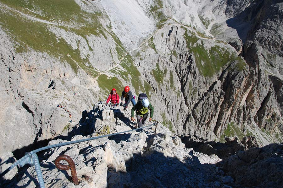Klettersteig Vinschgau : Sehn sucht berge pößnecker klettersteig und piz selva m