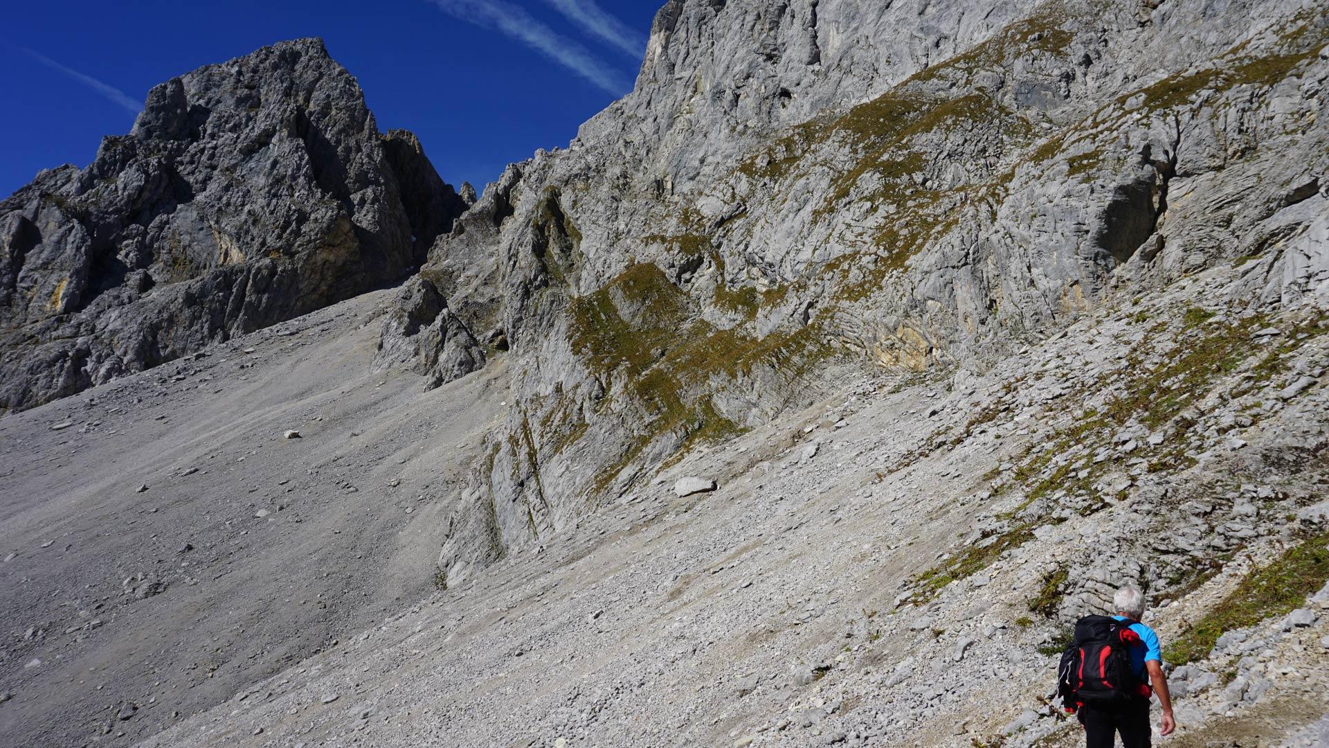 Klettersteig Ellmauer Halt : Klettersteig ellmauer halt von der wochenbrunner alm