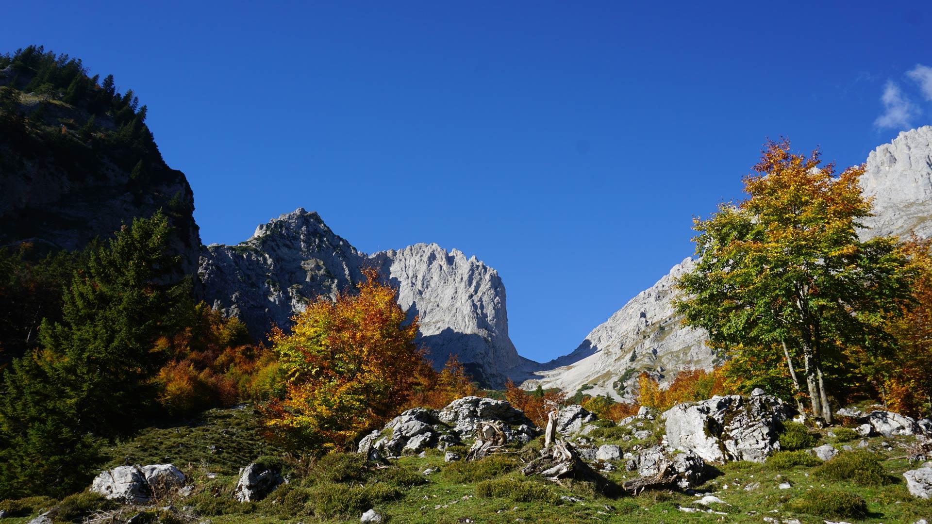 Klettersteig Wilder Kaiser Ellmauer Halt : Klettersteig ellmauer halt von der wochenbrunner alm