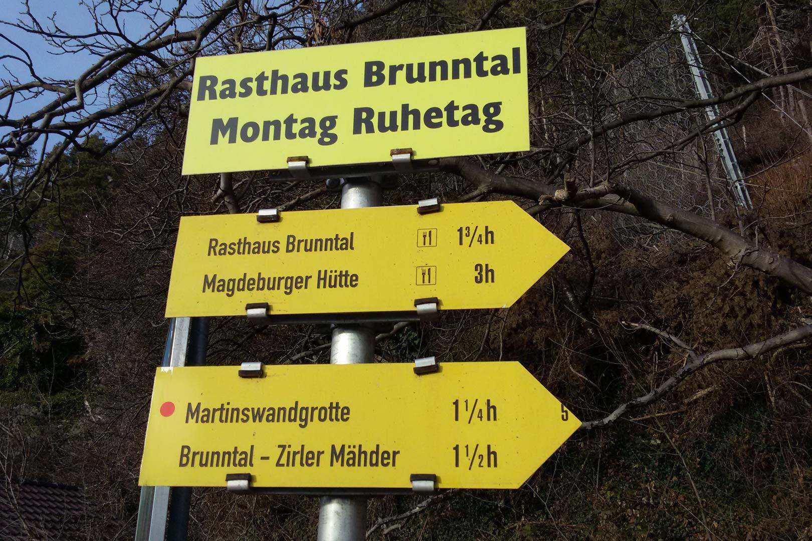 Kaiser Max Klettersteig : Wanderung kaiser max grotte