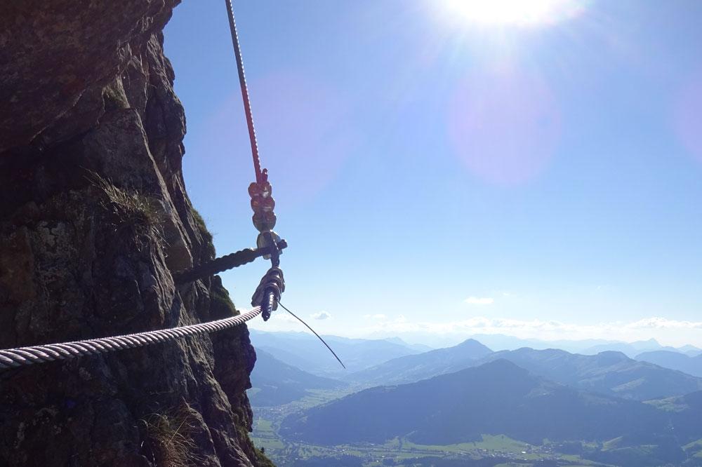 Klettersteig Johann Topo : Klettersteig kitzbüheler horn vom harschbichl
