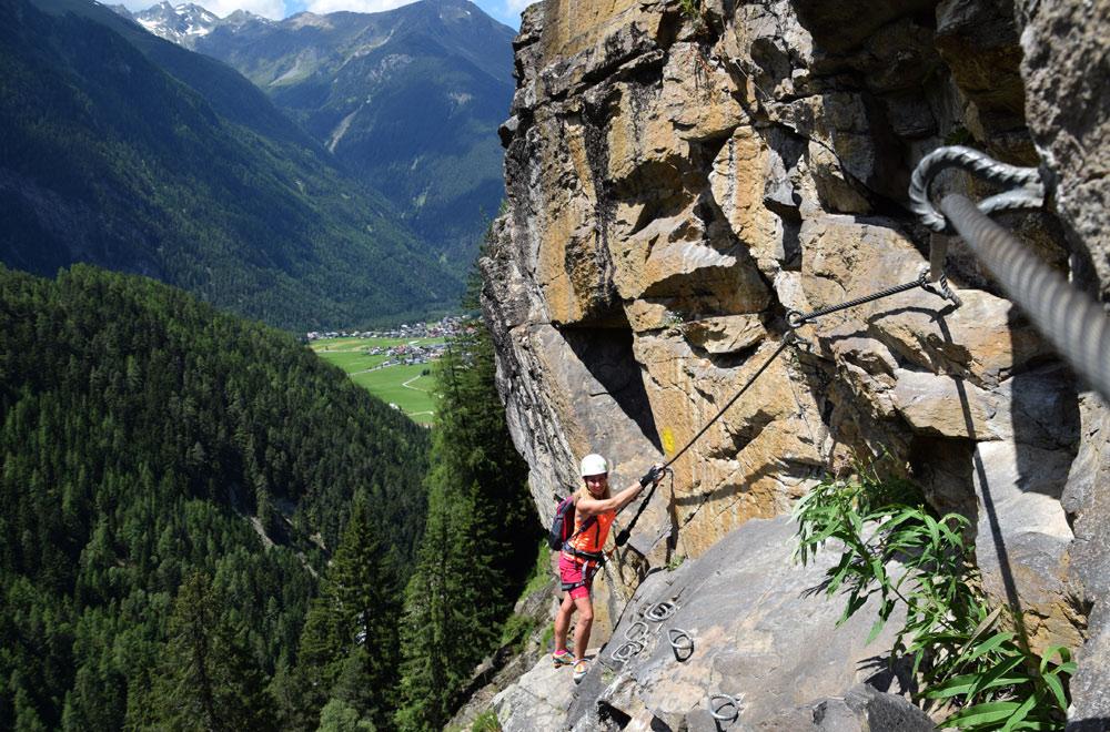Klettersteig Umhausen : Klettersteig stuibenfall Ötztal