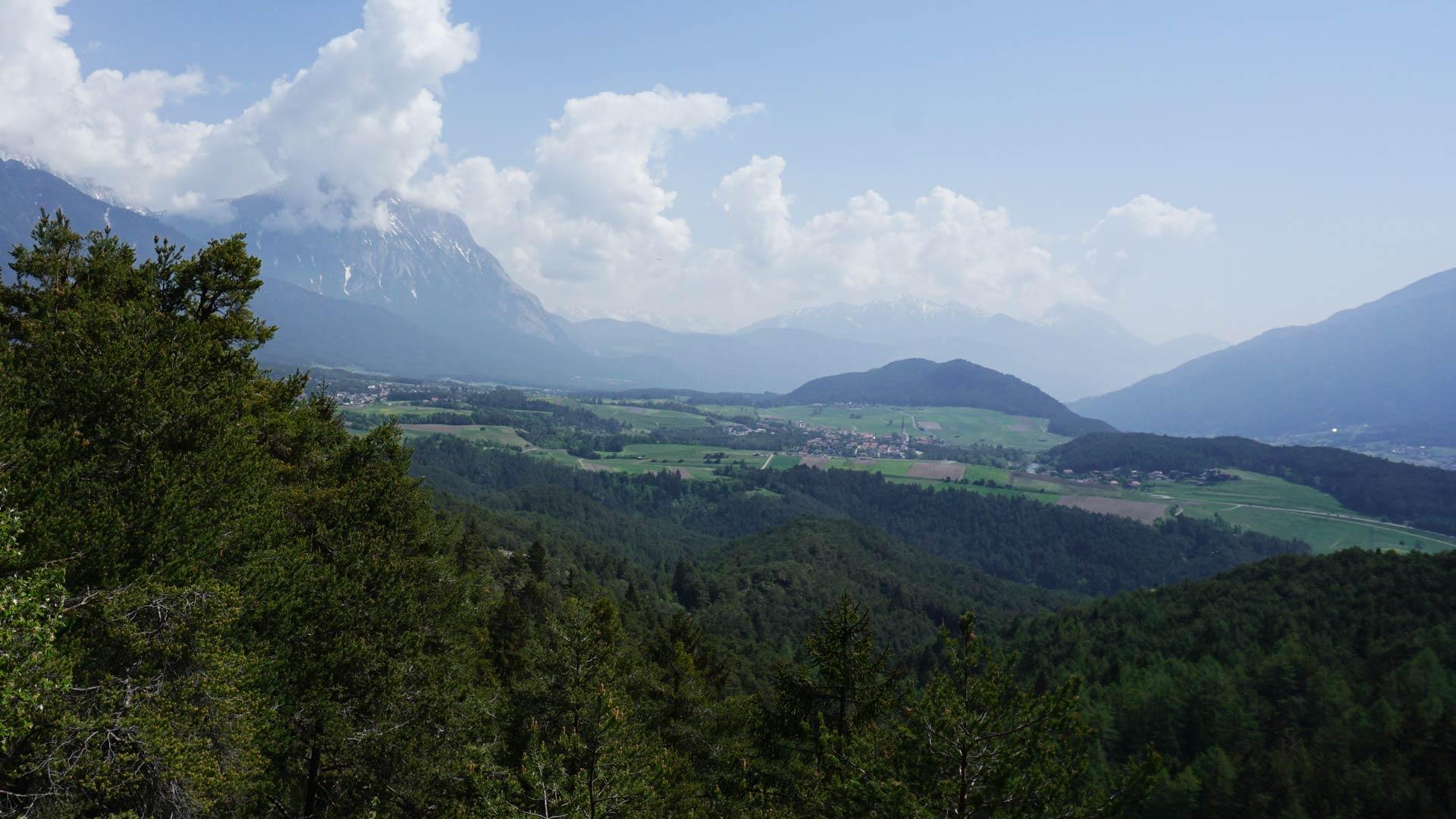 Schone Aussicht Weiler Thal Rundwanderung Am Mieminger Plateau