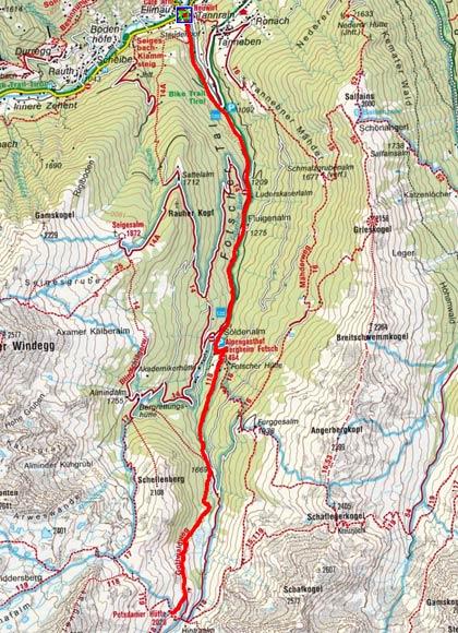 Sellrainer Hufeisentour (6 Etappen) - Tag 1