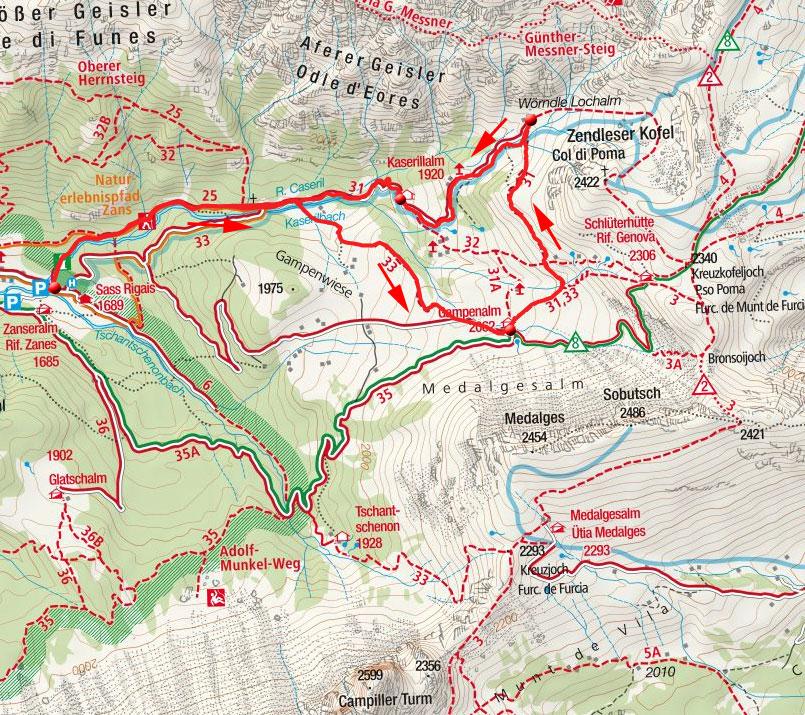 3-Almen-Wanderung im Villnöss Tal