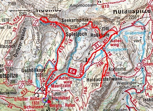 Klettersteig Karte : Achenseer fünf gipfel klettersteig im rofan