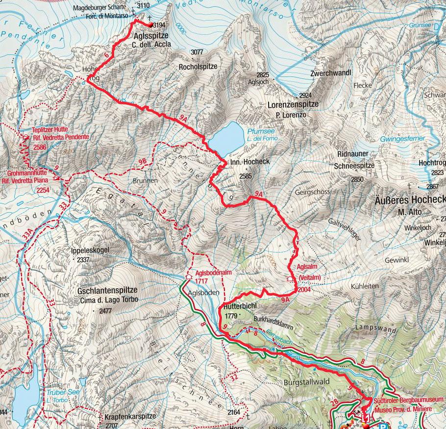 Aglsspitze (3194m) aus dem Ridnauntal