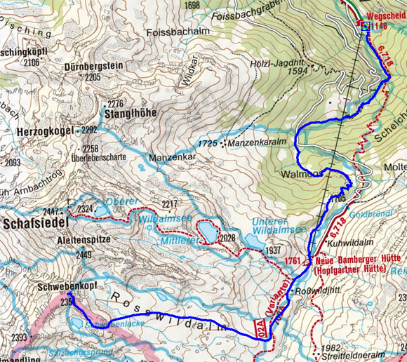 Aleitenspitze (2449 m) über die Rosswildalm