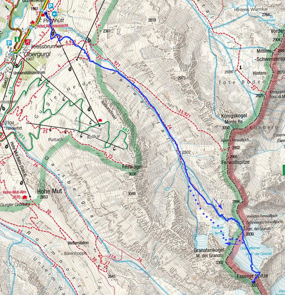 Essener Spitze (3200m) von Obergurgl