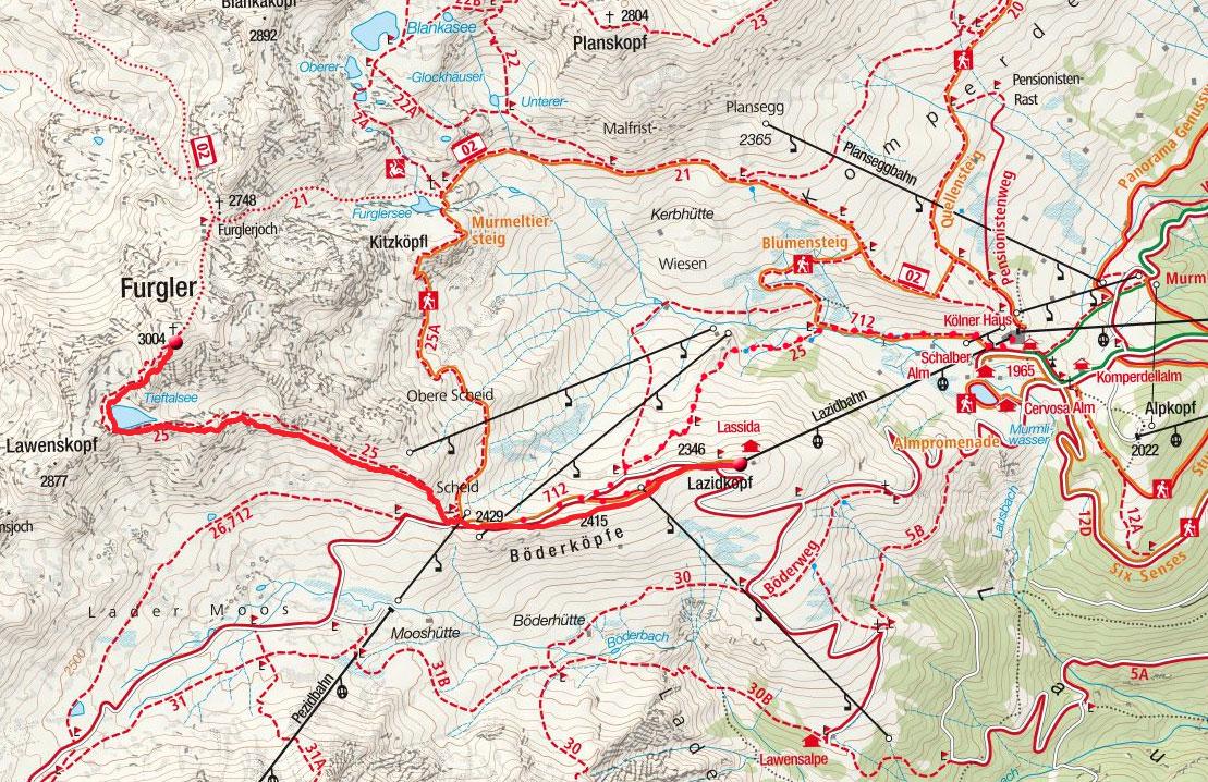 Furgler (3004m) von der Lazidbahn