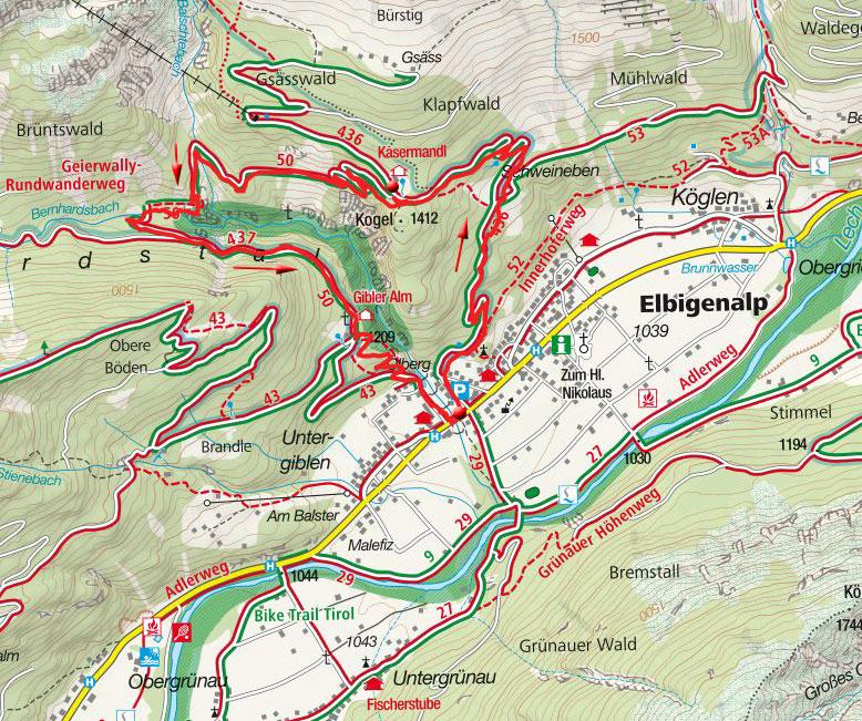 Geierwally-Rundwanderweg von Elbigenalp