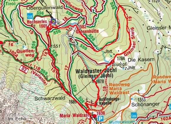 Gleinser Jöchl-Waldrasterjöchl (1878 m) Rundwanderung