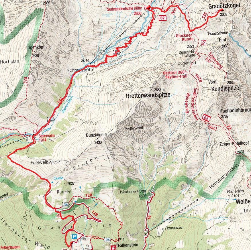 Gradötzkogel (3063m) von Glanz
