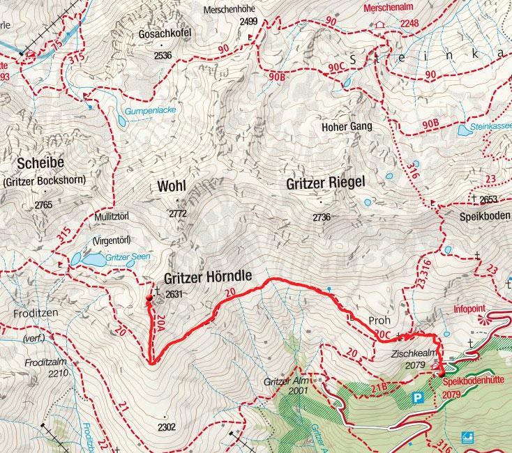 Gritzer Hörndle (2631m) von der Speikbodenhütte