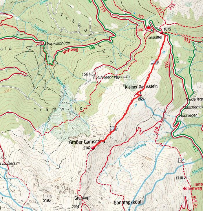 Großer Gamsstein (2142m) vom Loassattel