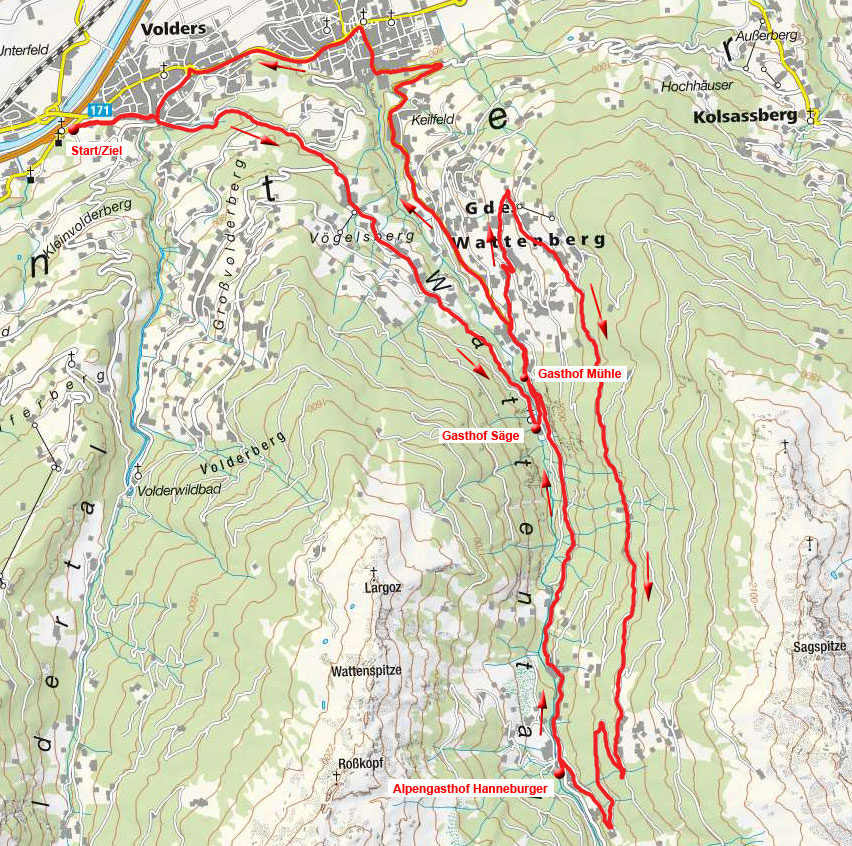 Alpengasthof Hanneburger von Volders