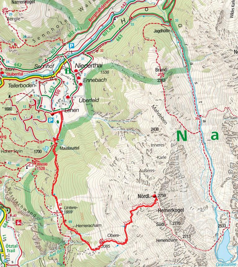 Hemerkogel (2759m) von Niederthai