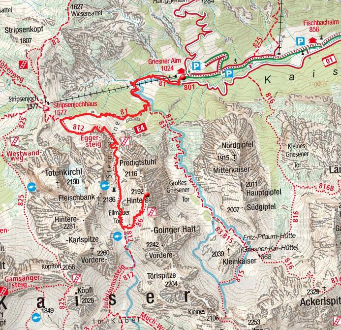 Hintere Goinger Halt (2192 m) von der Griesneralm